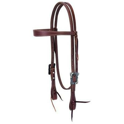 """Weaver 5/8"""" Protack Contoured Browband Headstall"""