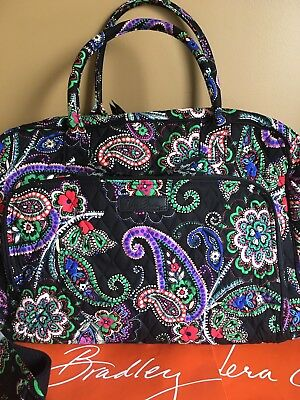 NWT Vera Bradley Kiev Paisley Travel Wekkender Carry On Shoulder Bag In Package