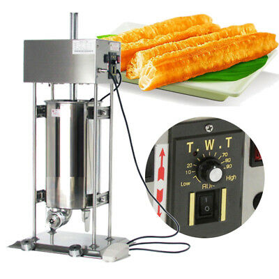 110V Commercial Home 15L Vertical Electric Spanish Donuts Churros Machine Maker
