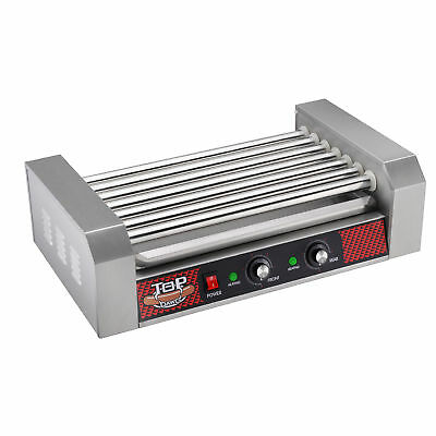 Commercial 18 Hot Dog 7 Roller Grilling Machine 1400Watts