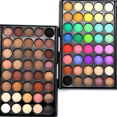 40 Colors Cosmetic Powder Eye Shadow Palette Makeup Shimmer Set Matt Earth color