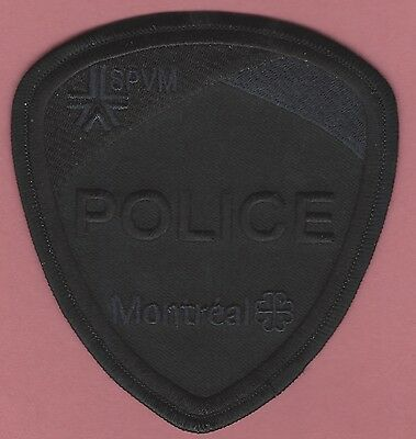 Montreal Quebec Canada Spvm Police Swat Team Patch All Black