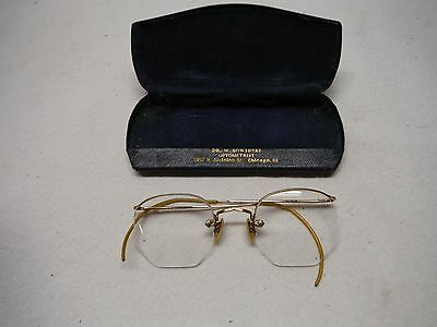 Vintage Eye Glasses With Case Chicago