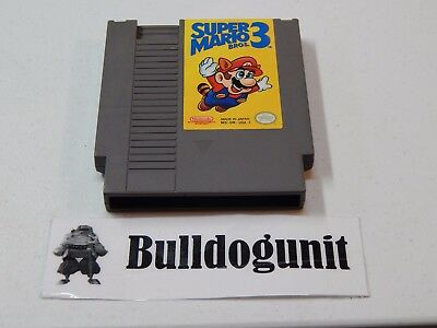 Authentic Super Mario Bros 3 Nintendo Game Cartridge NES