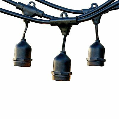 LEVIN Ambiance Weatherproof String Light for Outdoor with 15 Dropped Socket 48ft