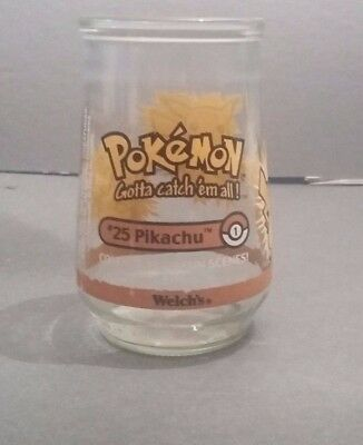 Welch's Pokemon Collectable Jelly Jar #25 Pikachu