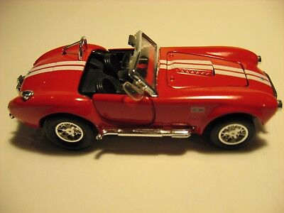 1966 Shelby Cobra 427 Ford Replica 1/34 Scale Diecast Model Car New Collectible