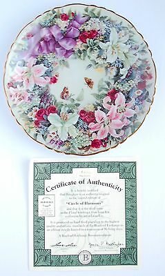 """""""Circle of Harmony""""~3rd issue Floral Greetings Collection Plate by Lena Liu"""