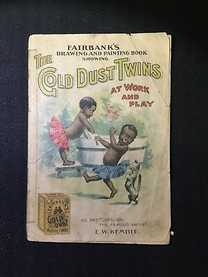 Rare Vintage 1902 Black Americana Gold Dust Twins Soap Story Book E W Kemble