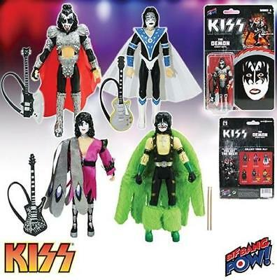 "KISS Dynasty 3 3/4"" Action Figures Series 2 Set of 4 Paul Gene Peter Ace"