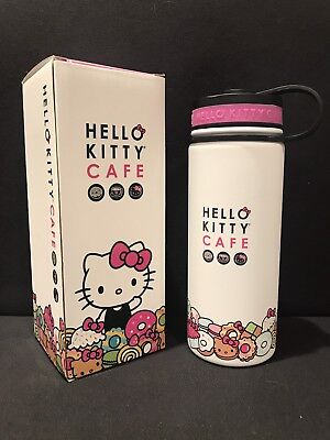 Hello Kitty Cafe Thermal Water Bottle 18 oz NEW in Box