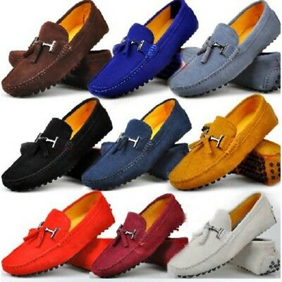 9 Colour Size 5-12 New Genuine Leather Mens Driving Loafers Flats Slip On Shoes