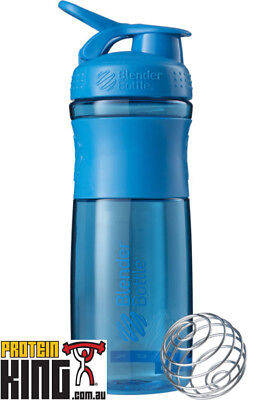 Blender Bottle Sport Mixer 825Ml Cyan Protein Shaker Cup Sportmixer 28 Oz Gym