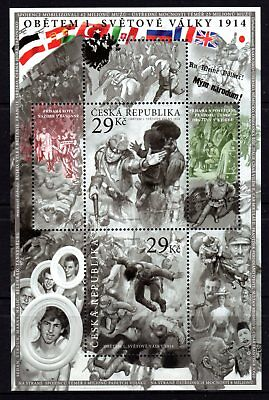 Czech Republic 2014 Victims of WWI M/S MNH