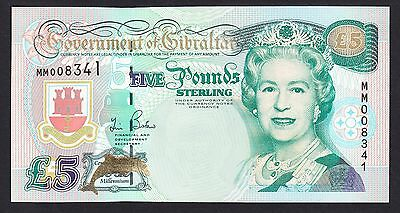 Gibraltar 5 Pounds  2000  UNC P. 29,  Banknotes, Uncirculated