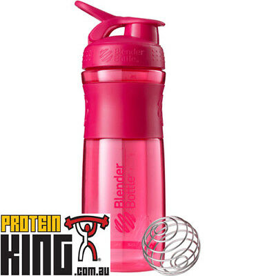 Blender Bottle Sport Mixer 825Ml Pink Protein Shaker Cup Sportmixer 28 Oz  Gym
