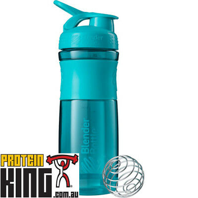 Blender Bottle Sport Mixer 825Ml Teal Protein Shaker Cup Sportmixer 28 Oz  Gym