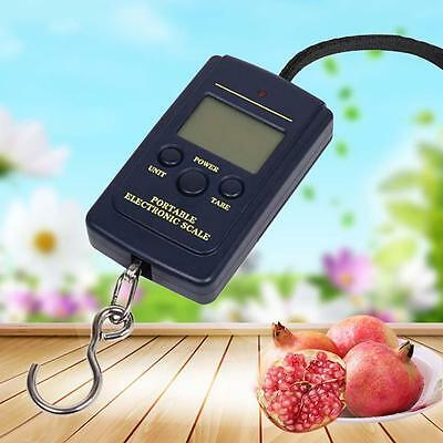 40kg Electronic Hanging Fishing Luggage Pocket Portable Digital Weight Scale @W