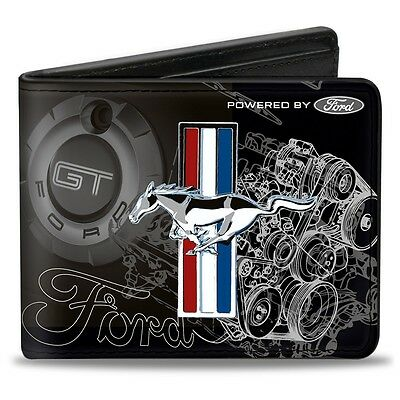 Leather style PU wallet Tri-Bar GT Blueprint Ford Mustang American - great gift!