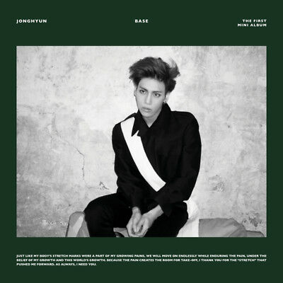 SHINEE JONGHYUN [BASE] 1st Mini Album GREEN/WINE RANDOM CD+P.Book+Card+GIFT CARD