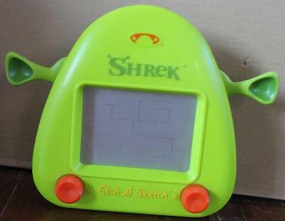 Rare Hard To Find Shrek Etch-A-Sketch Classic Drawing Toy Great For Travel Fun