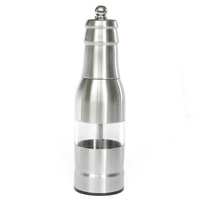 304 Stainless Steel Pepper Mill Manual Pepper Adjustable Grinder Silver C7Y3