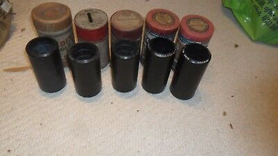 5 Edison vocal and Instrumental 2 minute phonograph cylinders in boxes