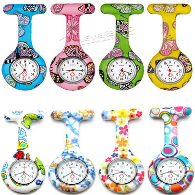 Silicone Nurses Fob Watch Pattern Nurse Brooch Tunic Fob Watch With Free Battery