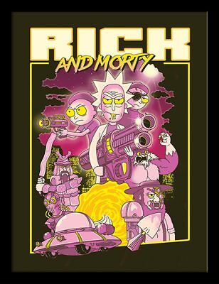 Rick and Morty - 80's Action Movie - 30 x 40cm Framed Poster Print FP12149P-PL