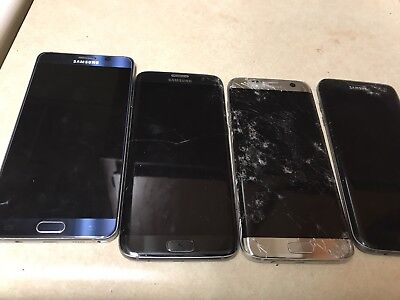 Lots of 4 Samsung 3 Galaxy S7 edge and note 5 For Parts - Plz Read