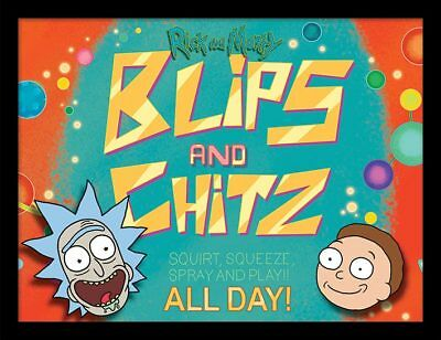 Rick and Morty - Blips and Chitz - 30 x 40cm Framed Poster Print FP12152P-PL