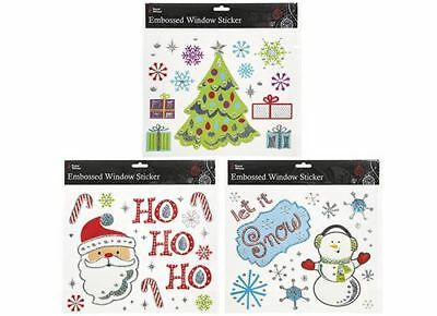 1 x Decorative CHRISTMAS Lovely WINDOW STICKER Set, 1 Selected at random!