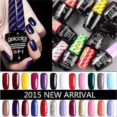 100% NEW 15ml OPI Gel Polish Gelcolor Color Collection Top & Base Coat Nail Art