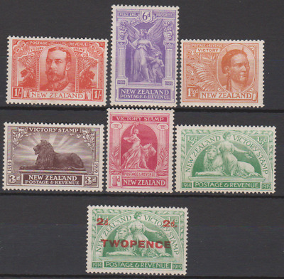 New Zealand 1920/22 Victory Set Mint Mounted