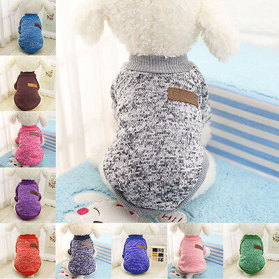 Pet Clothes Jumper Dog Suppy Warm Coat Dress Apparel Knitwear Fashion New Puppy