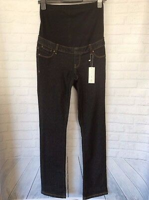 TARGET COLLECTION ~Ladies Black Denim  Straight Leg MATERNITY Jeans ~NWT ~Size 8