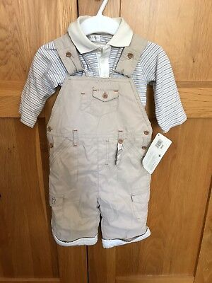 mamas and papas 3-6 months Boy Dungaree Outfit
