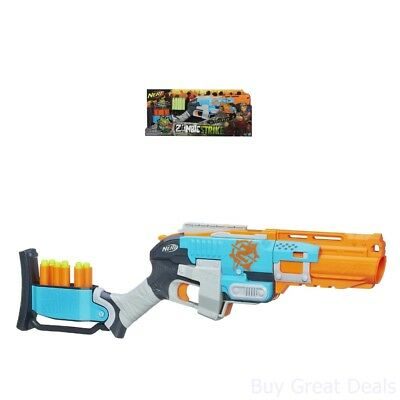 Nerf Fun Zombie Strike Sledgefire Blaster w/ 3 Reloadable Shell And 9 Darts