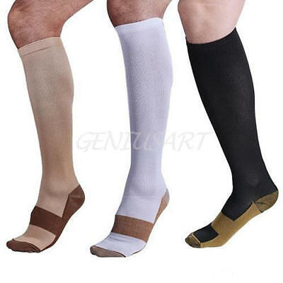 1pair Compression Socks Knee High Anti Fatigue Stocking Calf Support Sock S~XXL