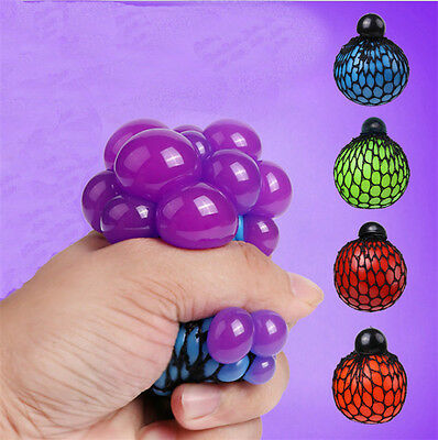 Anti Stress Face Reliever Grape Ball Autism Mood Squeeze Relief ADHD Toy