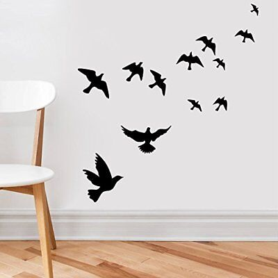 US Flock Of Birds Wall Decal Set Removable Stickers Wall Decor Art Mural Nature