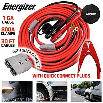 1 Gauge 800A Permanent Installation Kit Jumper Battery Cables Quick Connect Plug