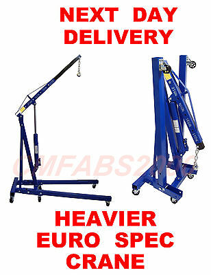2 T Ton Tonne Professional H/D Folding Engine Crane Hoist Lift Hydraulic Crane