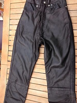 Vintage 80's Faux Leather High Waist Trousers Jeans Size 6 / 8