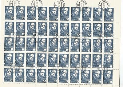 Russia Full Sheet 50 CTO Stamps.1 PY6, 1978. Nice Lot. See Scan.