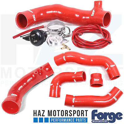 Forge Blow Off Dump Valve Turbo Boost + Inlet Hose Honda Civic Type R FK2 RED