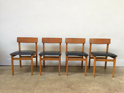 Vintage set of 4 Teak Danish Dining Chairs. Retro Mid Century. DELIVERY
