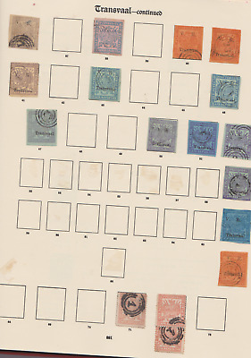 Transvaal 1870's/90's Collection 2 Pages Mint Mounted & Used