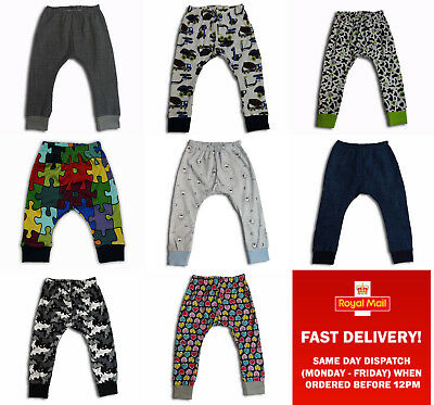 Fashion Kids Girls Boys Trousers Leggins Pants Harem2-3-4Years Cotton
