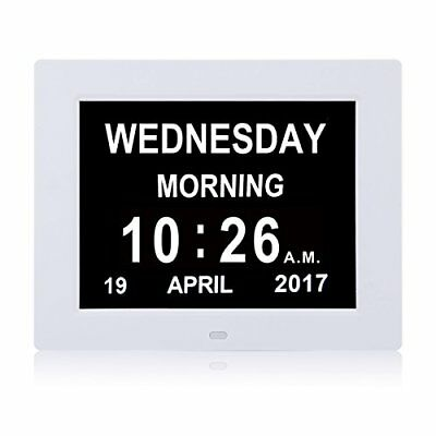 Upgraded - Svinz Memory Loss Day  Month Wall Clock Digital Calendar -Extra Large
